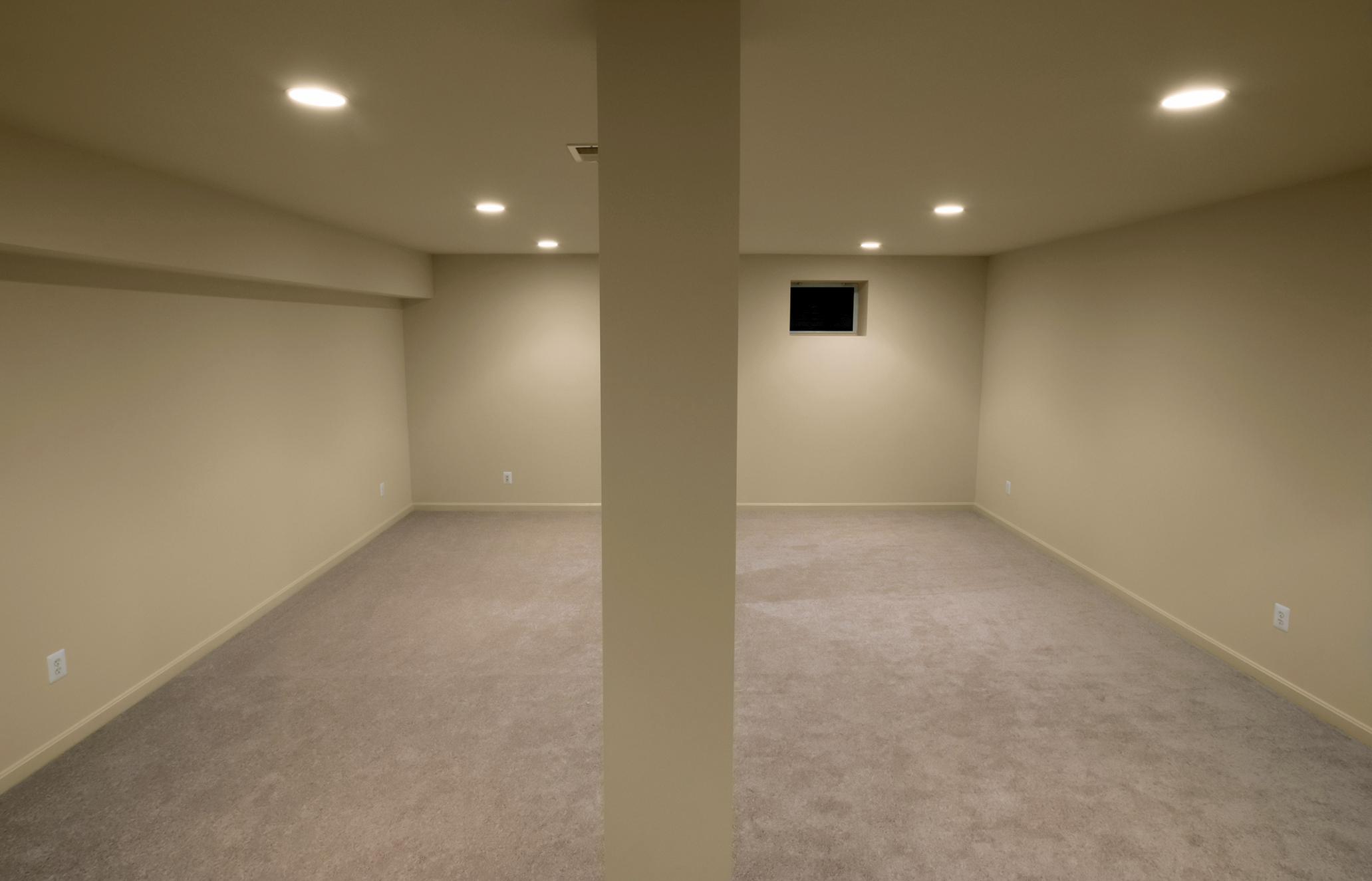 a more comfortable basement